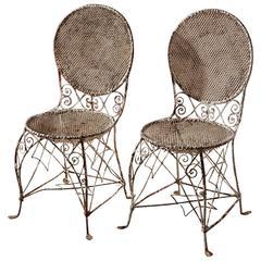 Beautiful Pair of Regency Orangery Chairs