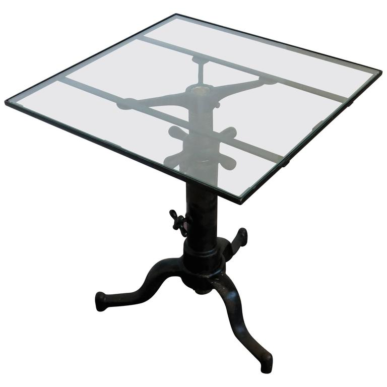 Vintage Industrial Satellite Adjustable Table For Sale