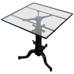 Vintage Industrial Satellite Adjustable Table