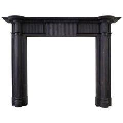 Irish 19th Century Palladian Style Welsh Slate Fireplace Mantle