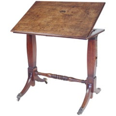 Antique Mahogany Arstist's Table or Reading Stand