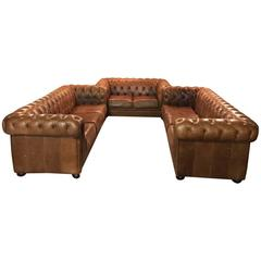 Chesterfield Seating Set in Vintage Style, Absolutely Rare