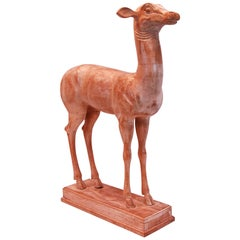 Carved Wooden Sculpture of Fallow Fawn from Pisoni's Villa at Herculaneum
