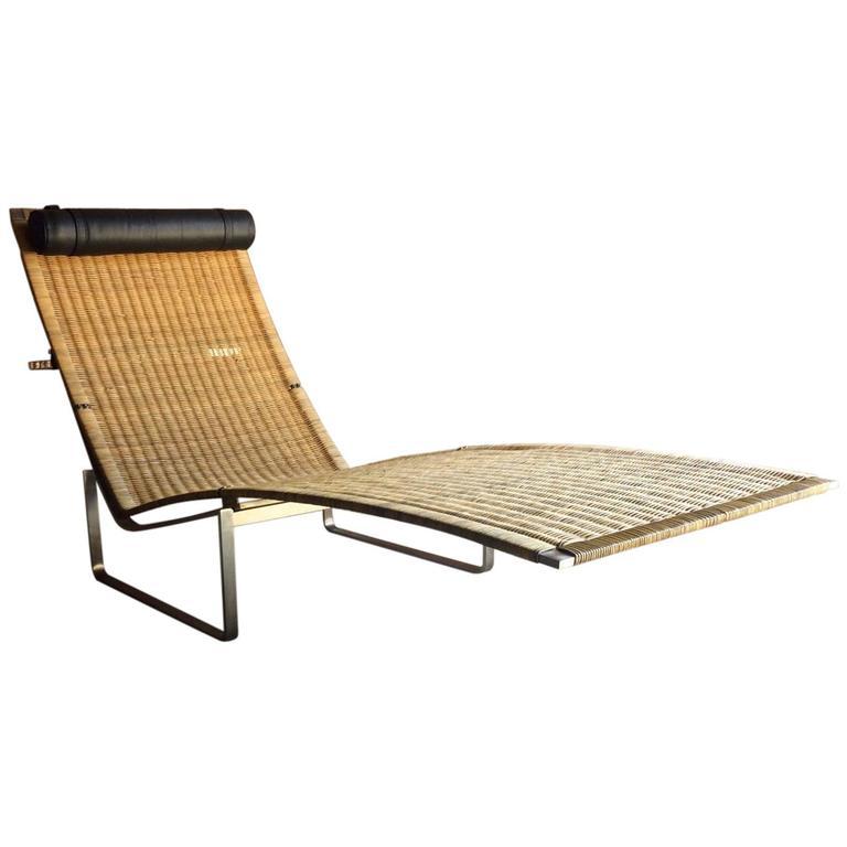 stunning poul kj rholm style chaise longue lounger model. Black Bedroom Furniture Sets. Home Design Ideas