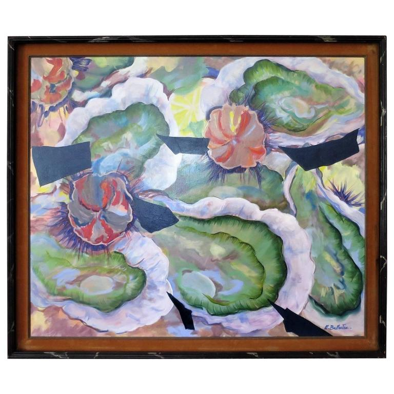 Contemporary Oil Painting by E. Ballestra Expressionist Provence School For Sale