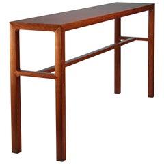 Scandinavian Long Wooden Console Table, 1960s