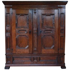 18th Century, German Oakwood Cabinet