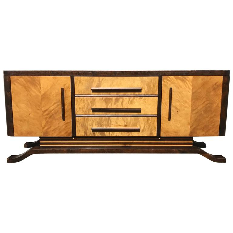 Swedish Art Deco Sideboard In Yellow Birch For Sale At 1stdibs