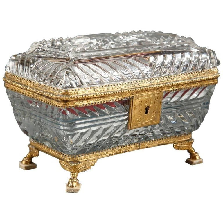 19th Century Crystal and Mother-of-Pearl Toiletry Box
