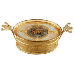19th Century Charles X Gilt Bronze and Mother-of-Pearl Box