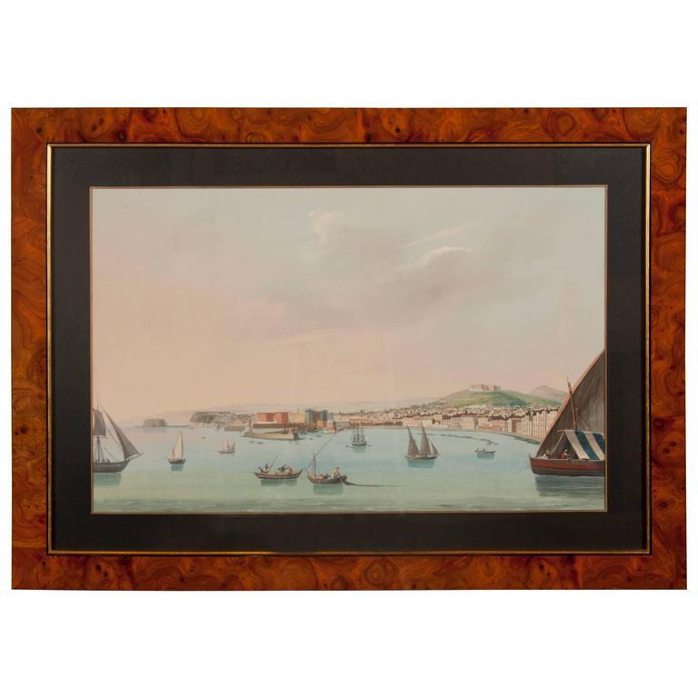 Italian Neapolitan Gouache Views For Sale