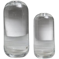 Set of Two Crystal Vases by Gianfranco Frattini for Progetti