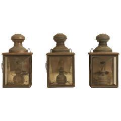 Antique French Gillet & Forest Kerosene Lanterns from the 1800s