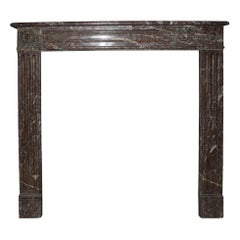 French, Louis XVI Style Marble Mantel