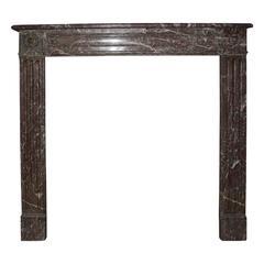 French, Louis XVI Style Marble Mantel