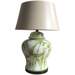 Italian Ceramic Bamboo Table Lamp