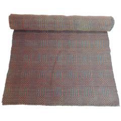 Antique Flat Woven Americana Carpet Runner