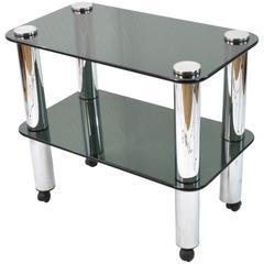 20th Century Smoked Crystal Tray