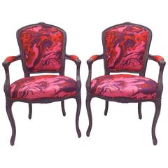 Pair of French Style Armchairs, circa 1960s