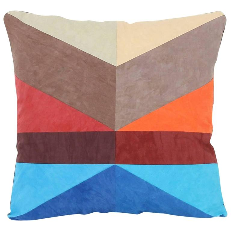 Quality Throw Pillows : Quilted American Heritage Throw Pillow, Handmade to Order by Studio Dunn For Sale at 1stdibs