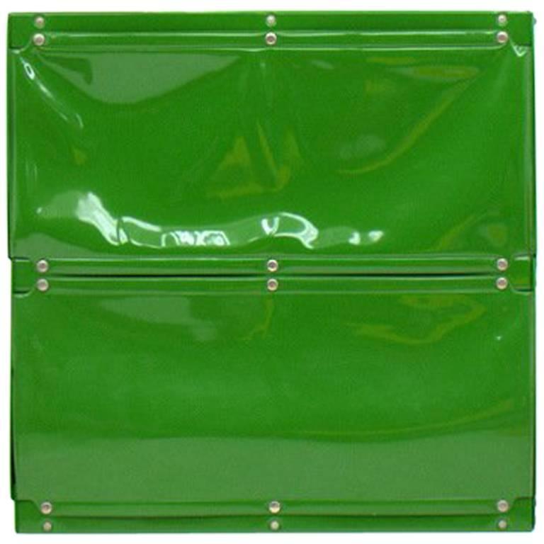 Otto Zapf Green Softline Plastic Shelf, Germany, 1971 For Sale