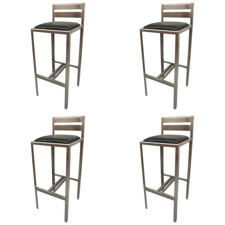 Set of Four Metal Bar Height Stools For Sale at 1stdibs : 7976493l from www.1stdibs.com size 768 x 768 jpeg 32kB