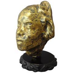 Tête Sculptée en Céramique D'après Rodin, Par Jean Mayodon, 1930s