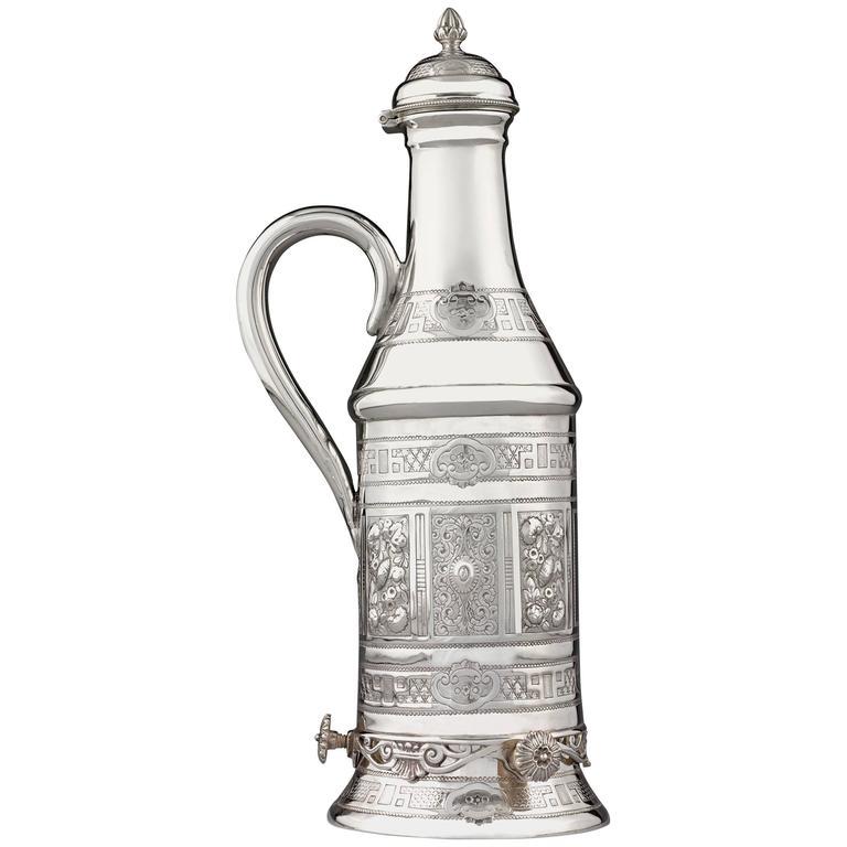 Victorian Silverplate Wine Bottle Holder