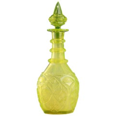 Late 19th Century Bohemian Ouraline Decanter