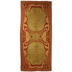 Art Nouveau, Handmade 100% Pure Wool Irish Rug