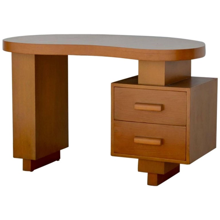 Small floating kidney shaped writing desk for sale at 1stdibs for Kidney desk for sale