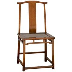 Elegant Antique Chinese Yoke-Back Side Chair