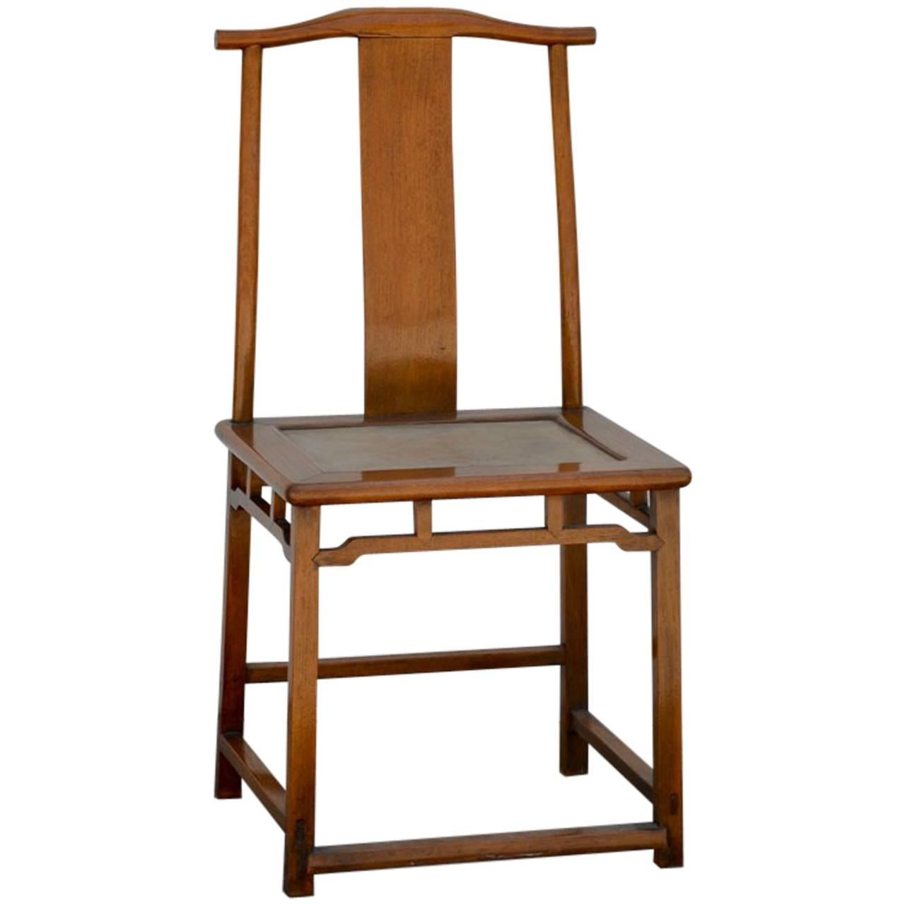 High Quality Elegant Antique Chinese Yoke Back Side Chair For Sale