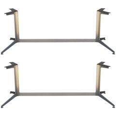 Single Minimalistic Heavy Polished Aluminum Table or Desk Base