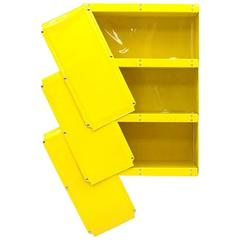 Otto Zapf Yellow Plastic Shelf System, Germany, 1971, Indesign