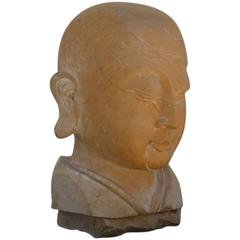 Large Carved Marble Head of the Buddha