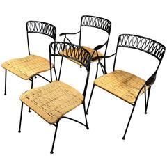 1950s, Maurizio Tempestini Iron Ribbon Garden Chairs for Salterini, NY