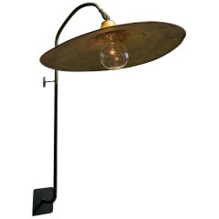 Large Industrial Goose Neck Shaded Wall Sconce