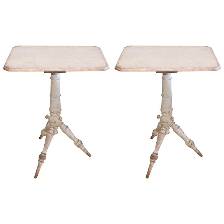 Pair of 19th Century Swedish Pedestal Tables For Sale