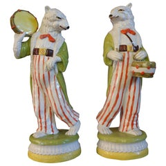 Pair of Italian Glazed Ceramic Polar Bears