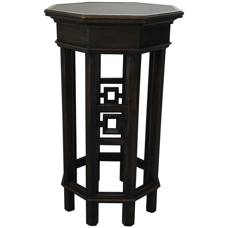 1960s, Asian Fretwork Octagon Side Table Plant Stand For Sale