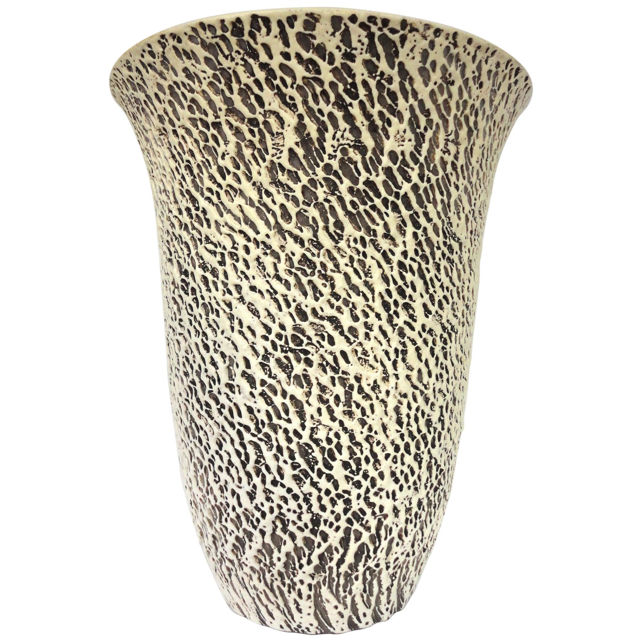 Pol Chambost Large Illuminated Ceramic Vase, France, 1930s