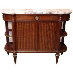 Louis XVI-Style Mahogany and Marble Top Buffet/Server, Early 20th Century
