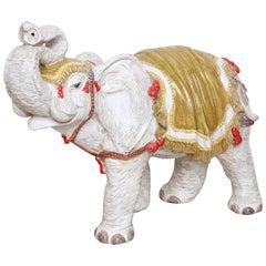Vintage Italian Ceramic Elephant