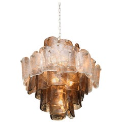 Large Vintage Six-Tier Round Mazzega Chandelier