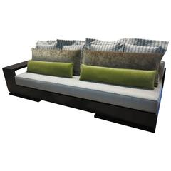 Patone Custom Modern Sofa in Rosewood with Shelving from Costantini, Sample