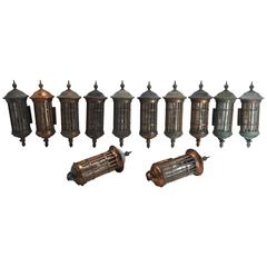 12 Copper Wall Lanterns
