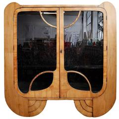 Art Deco Modernist English Display Cabinet
