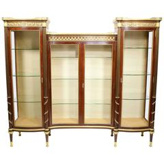 French 19th-20th Century Louis XVI Style Mahogany and Ormolu-Mounted Vitrine