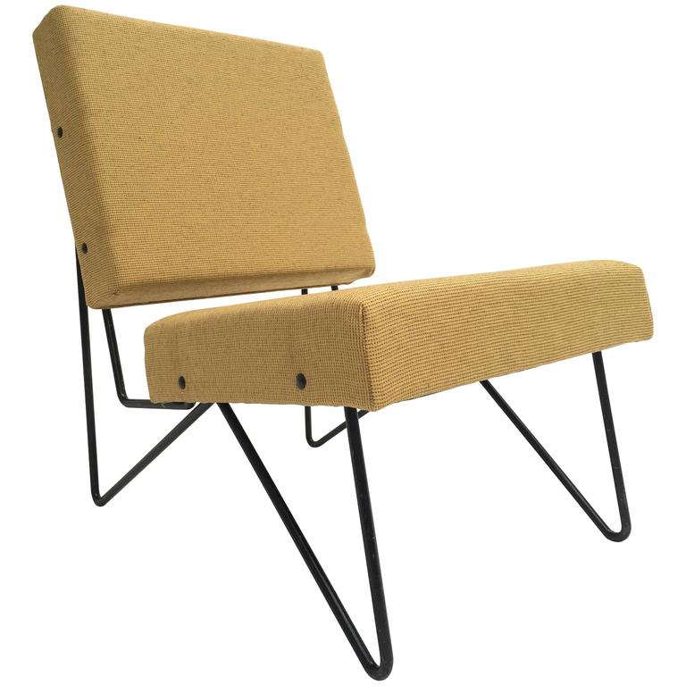 Modernist Cees Braakman FM03 Combex Lounge Chair for UMS Pastoe 1953 Restored For Sale
